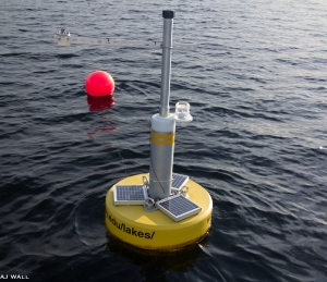"""Goldie"", a Colby research buoy launched by King and his students, is creating expanded research opportunities investigating lake dynamics and a web-based dashboard has been created to communicate this data to the community."
